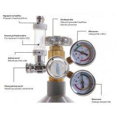 Aquario CO2 reduktor z zaworem igłowym